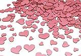 280 Stk Holz Herzen altrosa MIX Hochzeit Tischschmuck Streuteile Holzherzen rosa rose Holz Herz Dekoherzen Streuherzen Tischdekoration Streudeko Basteln Liebe Valentinstag Muttertag Tischdeko Holzherz