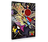 Giallobus - Quadro - Stampa su Tela Canvas Kandinsky - Quadro Astratto ACCOMPAGNAMENTO Nero - Quadri Moderni di Tela - Vari Formati - 70 x 100 CM
