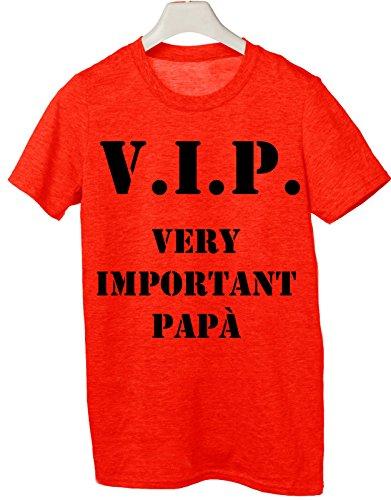 Tshirt V.I.P very important papà- Happy father's day- Festa del papà - Tutte le taglie by tshirteria Rosso