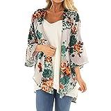 VRTUR Damen Herbst und Winter Jacke Öffnen Vorderseite KimonoBlumen Überzieher Lässig Mantel Strickjacke (X-Large,X-Grau)