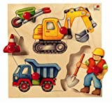 Selecta 2038 - Baustelle Holzpuzzle, bunt