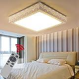 YESDA 48W Dimmbar LED Deckenleuchte Badleuchte Deckenlampe Flurleuchte Mit Fernbedienung (48W Dimmbar)
