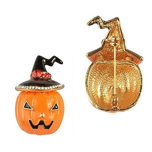 Kürbis Brosche Pins Cartoon lustige Tier Revers Pin Brosche für Halloween Weihnachtsgeschenk 0,9 '' × 1,3 '' (Cartoons Sauber, Halloween Lustig,)