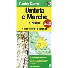 Umbria, Marche 1:200.000. Ediz. multilingue