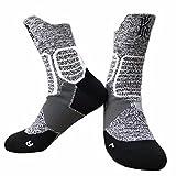 LIUMIAO 3 Paare, Basketball Socken aus Reiner Baumwolle Handtuch unten im Sommer, Vier