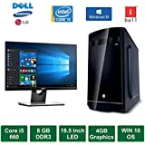 "Desktop PC - Intel Core I5 660 Processor / 18.5"" LED Monitor / 4GB Graphics / Windows 10 Pro / 1TB HDD / DVD / WiFi"