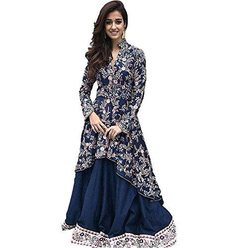 Radhe Creation Printed party wear kurtis for womens - LATEST bollywood gown style kurti for ladies - Printed long anarkali fancy dress (Free Size)