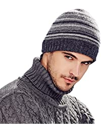 6aba44b6716598 Kenmont Men's Beanie Cap Skull Knit Hat Strech Warm Wool Blend Autumn  Winter Hats
