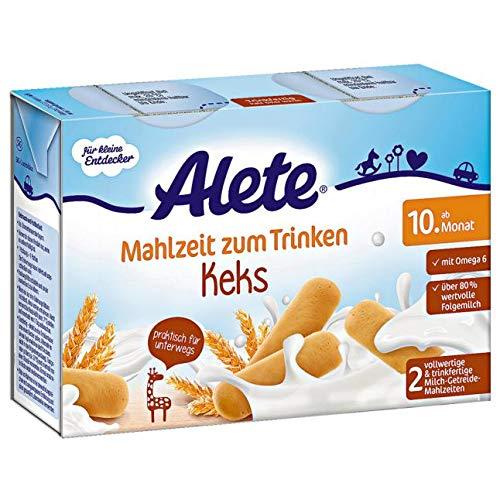 Alete Mahlzeit zum Trinken Keks ab 10. Monat, 2x200ml, 400 ml