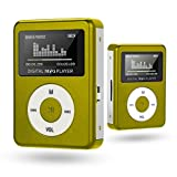 MP3 Player Diadia Versatile Metal MP3 Player LCD Screen with a 32GB Micro SD card, Micro SD TF Card (Green)