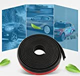 #1: Universal Car Sealing Strip,4M Z-Shape Rubber Seal Weather Strip Hollow Door Window Edge Moulding Trim Decorate Weatherstrip, Black