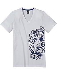 Schiesser - Camiseta de pijama de manga corta para niño