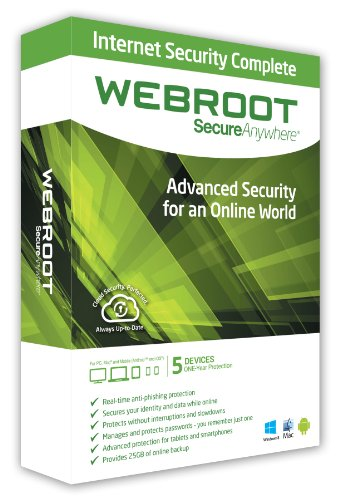 Webroot SecureAnywhere Complete 5 Device (PC/Mac)