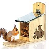 Mangeoire pour écureuils - prête à l'emploi en Bois de pin et 100% étanche   Station d'alimentation pour écureuils, Mangeoire pour écureuils, Lieu d'alimentation, mangeoire