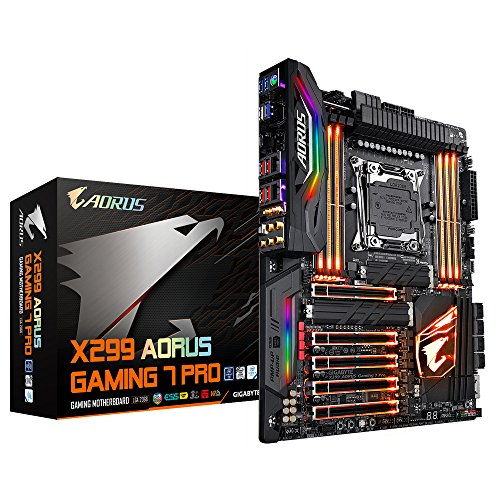 Gigabyte X299 AORUS Gaming 7 PRO Mainboard schwarz - Gigabyte Mainboard Gaming