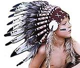 K12- tocado indio para niño / niños de 5/8 años, sombrero, tocado de plumas