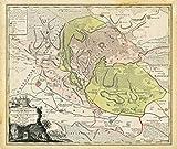 Historische Karte: Grafschaft Stolberg mit dem Harz 1736 (Plano) - Comitatus Stolbergici - Homan Erben, Johann Friedrich Penther