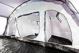 CampFeuer - Großes Familienzelt, 8 Personen Schlafkabine, stahlblau, 5000 mm Wassersäule, Campingzelt, (+ 8 weitere Personen in Vorraum möglich) -