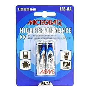 Microbatt - Pile lithium blister LFB-AA L91 1.5V 2700mAh - Blister(s) x 2