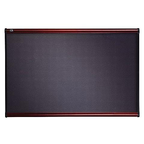 Prestige Bulletin Board, Diamond Mesh Fabric, 36 x 24, Gray/Mahogany Frame, Sold as 1 Each