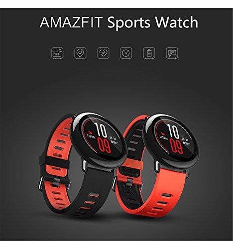 Smartwatch-amazfit-Fitness-Tracker-Herzfrequenz-Monitor-GPS-Sport-Smart-Watch-Bluetooth-Wifi-Dual-512-MB4GB-Activity-Tracker-Bluetooth-Schrittzhler-mit-Sleep-Monitor-Armband-fr-iPhone-Android