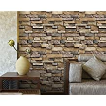 3D retrò Auto-mattone, 100x45cm, adesivi pietra decorazione carta da parati a parete per soggiorno