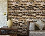 Papel pintado ultrafino autoadhesivo retro del ladrillo 3D,100x45cm, etiquetas engomadas de la pared de la decoración del papel pintado de la piedra para la sala de estar