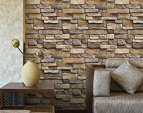 rétro 3D auto-brique, 100x45cm, stickers muraux de décoration en pierre papier peint pour le salon
