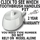 Genuine Braun Oral-B Toothbrush Trickle Charger Type 3757. Fits most New Style toothbrushes.