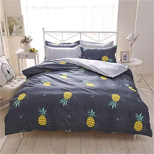 Jwans 3/4 stücke Bettwäsche Baumwolle Bettlaken Cartoon Geometrische Muster Bettbezug mit Kissenbezug Bettdecke Set (Bella Tröster)