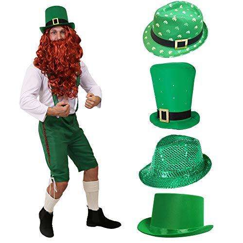 Kostüm Ringe Irland - LEPRECHAUN ZWERGE IRLAND BAYERN KOSTÜM VERKLEIDUNG=GRÜNE