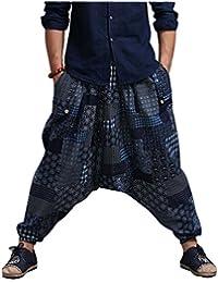 CX-Store Pantalones De Harén Casuales De Los Hombres Hippie Hip Hop Sueltos  Holgados Pantalones e809e02bbdb