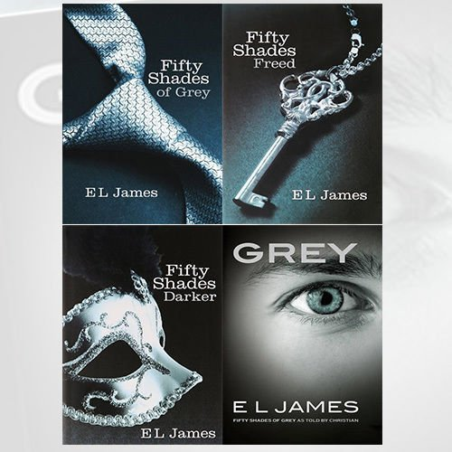 Fifty Shades of Grey 4 Books Collection By E L James, (Grey Fifty Shades of Grey As Told by Christian, Fifty Shades Freed, Fifty Shades Darker and Fifty Shades of Grey)