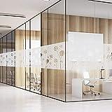FANCY-FIX Pegatina de Vinilo para ventana o cristal Ventana Película Adhesiva Proteger Privacidad Opaco Ventana decorativa Forma Flor Color traslúcido 43cm*200cm