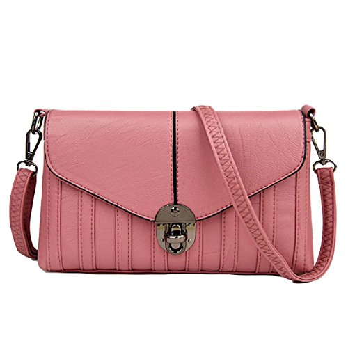 Frau Fashion Casual Schultertasche Messenger Bag Diagonal Paket Pink