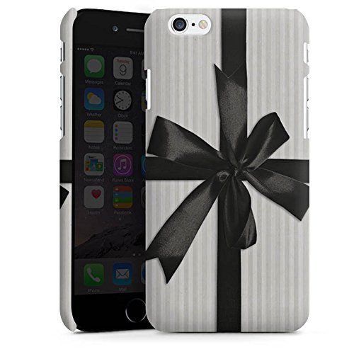 Apple iPhone X Silikon Hülle Case Schutzhülle Geschenk Schleife Grau Premium Case matt