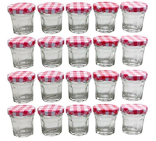 30 Ml Glas (mikken 20 x Mini Einmachglas 30 ml, achteckige Marmeladengläser)