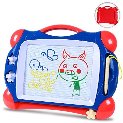 Sgile lavagna magnetica per bambini 2, 3, 4 anni - lavagnetta magica cancellabile vari colori,tavolo da disegno magnetico - giocattoli educativo,portatile - blu (stile-10)