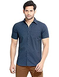 [Sponsored]London Bee Printed Short Sleeve For Men | Mens Button Short Sleeve Shirt | 100% Cotton