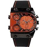 SJXIN Reloj Elegante Reloj OULM Moda Puntero Digital Reloj de Pantalla Dual Relojes de Moda (Color : 1)