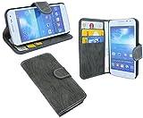 Samsung Galaxy Express 2 G3815 Buchtasche Hülle Case Tasche Wallet BookStyle mit STANDFUNKTION in Anthrazit @ Energmix