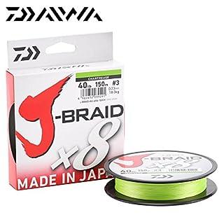 Daiwa J-Braid 8 Braid 0.10mm, 6,0kg/13,0lbs, 300m chartreuse, rund geflochtene Angelschnur
