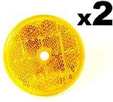 2x Orange Reflektoren 50mm - Rückstrahler Katzenaugen Rückleuchten -Wohnwagen und Anhänger - Kostenloser Versand!