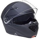 Klapphelm Integralhelm Helm Motorradhelm RALLOX 109 schwarz/matt mit Sonnenblende (S, M, L, XL) Größe M - 4
