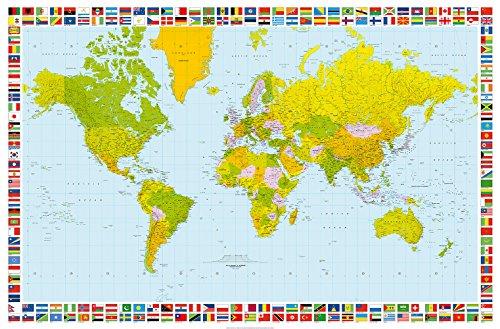 Wiesemann Giant Art® XXL-Poster 655 Map of the World (Wandbild Giant Map World)
