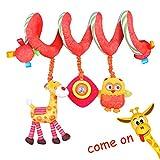 Labebe Carro Juguete, Cochecito Juguete para Bebé de 3 Meses y Más, Colgante Espiral Bebé con Jirafa Amarilla y Búho, Carro Bebé Juguete/Carro Bebé/Colgante Bebé/la Espiral Actividades Bebé/Carro Gemelar Juguete/Carro Juguete Niña/Niño/Colgante Cuna