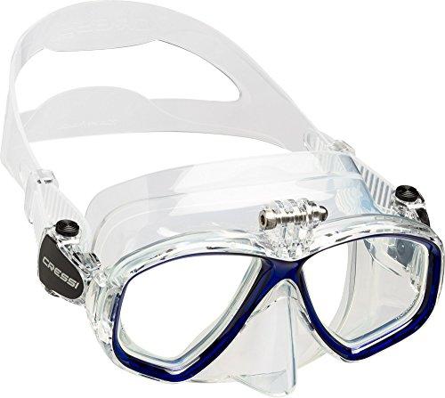 Cressi Action - Tauchmaske mit Einem Adapter für Action Cam (Kamera-taucherbrille)