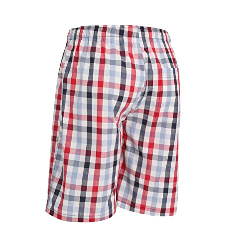 Ceceba Herren Schlafanzughose Bermuda white-red-blue