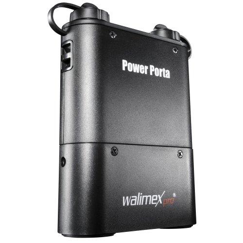 Walimex Pro Powerblock Porta Li-Ion Akku (4500 mAh) für Nikon Systemblitze schwarz