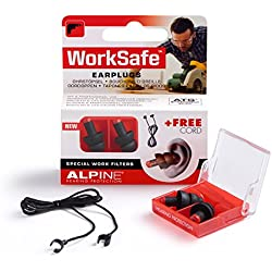 Alpine WorkSafe - Gehörschutz gegen Lärm am Arbeitsplatz, Gratis Kordel